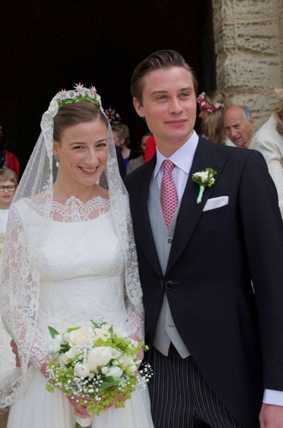 Caroline von Neipperg et Philippe de Limburg Stirum à Saint-Emilion, le 23 mai 2015