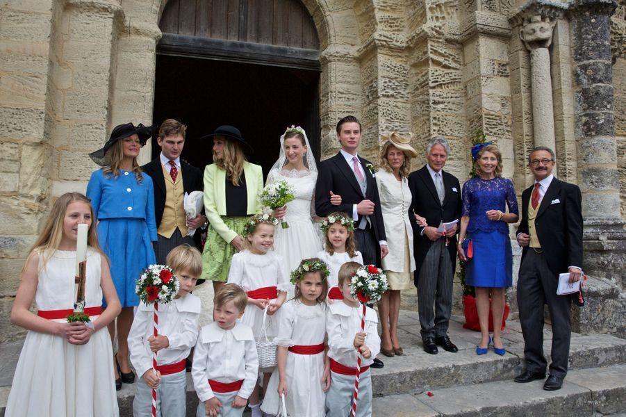 Mariage de Caroline von Neipperg et Philippe de Limburg Stirum à Saint-Emilion, le 23 mai 2015