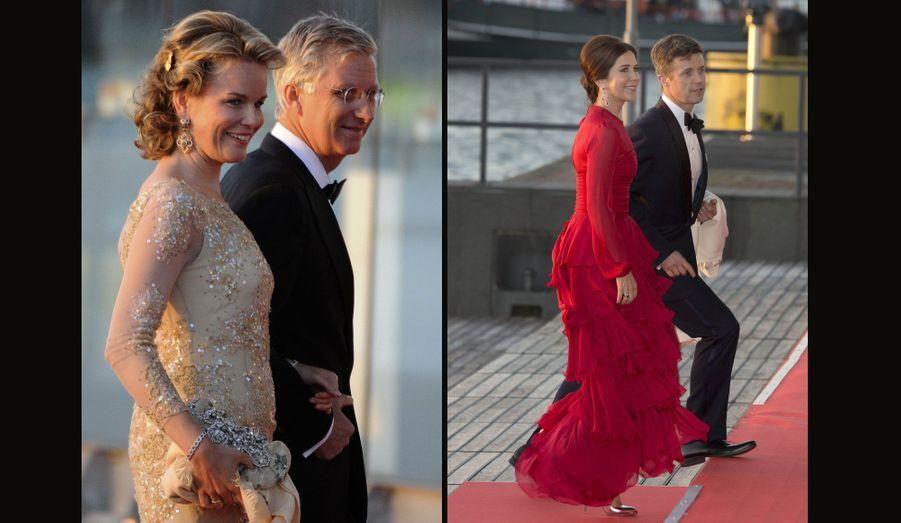 Mathilde et Philippe de Belgique et Mary et Frederik du Danemark