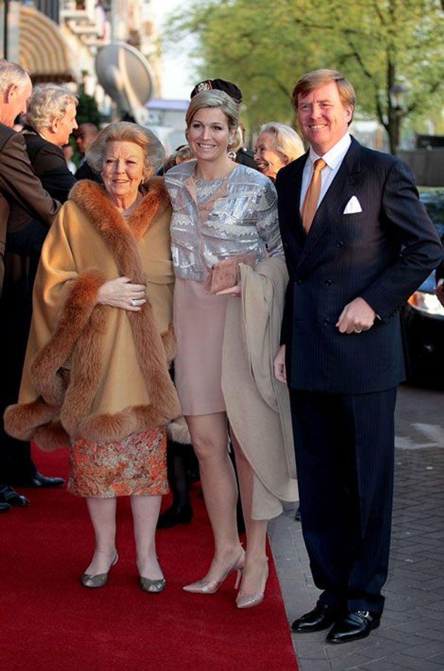 Avec l'ancienne reine Beatrix