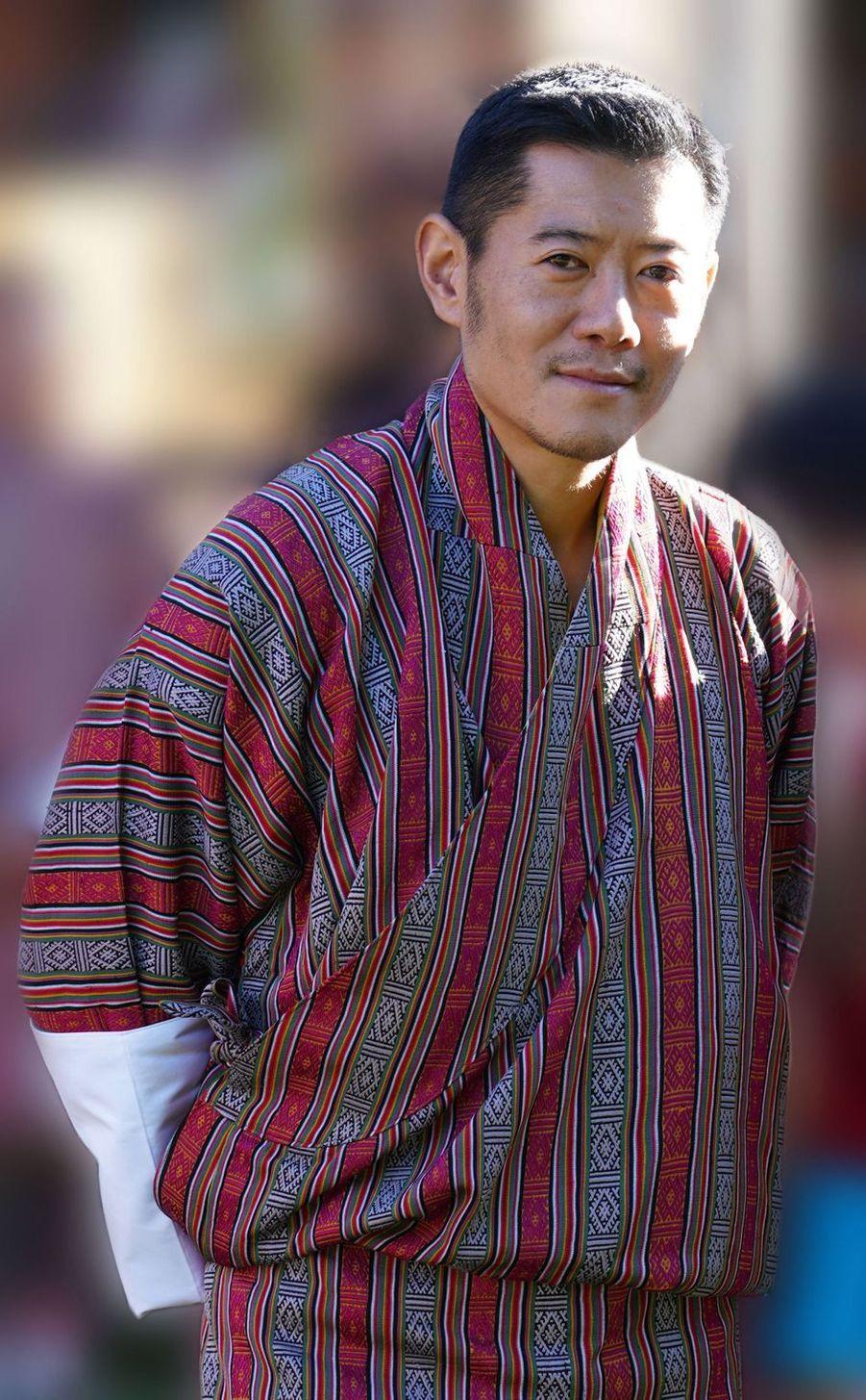 Le roi du Bhoutan Jigme Khesar Namgyel Wangchuck à Timphu. Photo diffusée le 31 octobre 2020