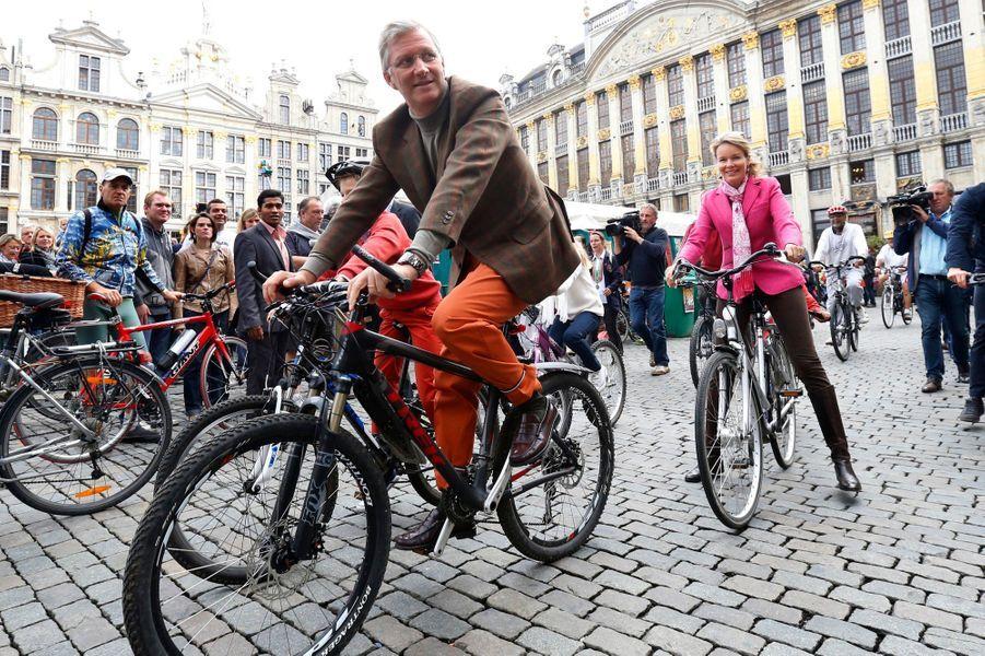 Philippe et Mathilde, un tour de vélo en famille