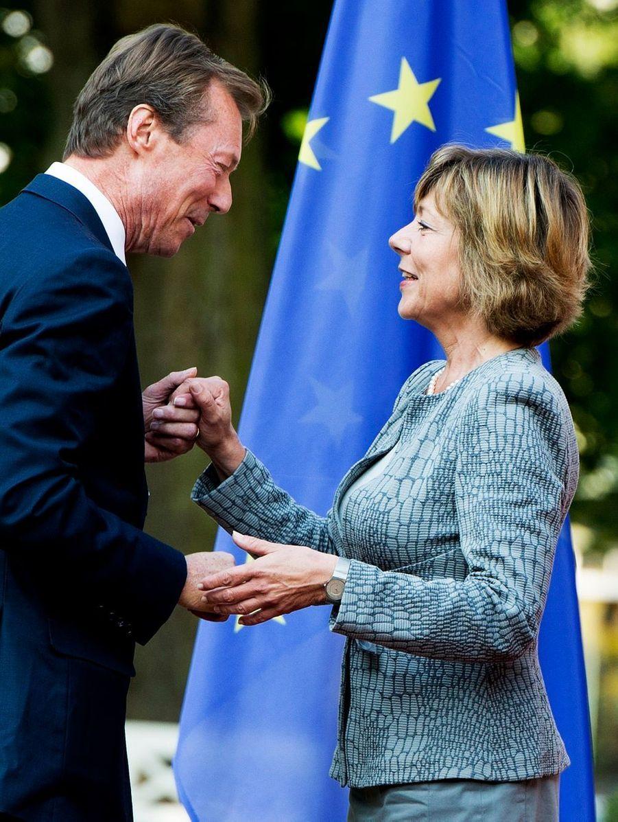 La compagne de Joachim Gauck avec le Grand-Duc Henri du Luxembourg