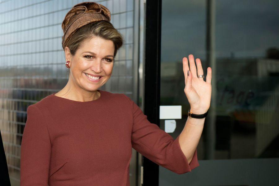 La reine Maxima des Pays-Bas à Almere, le 5 février 2015