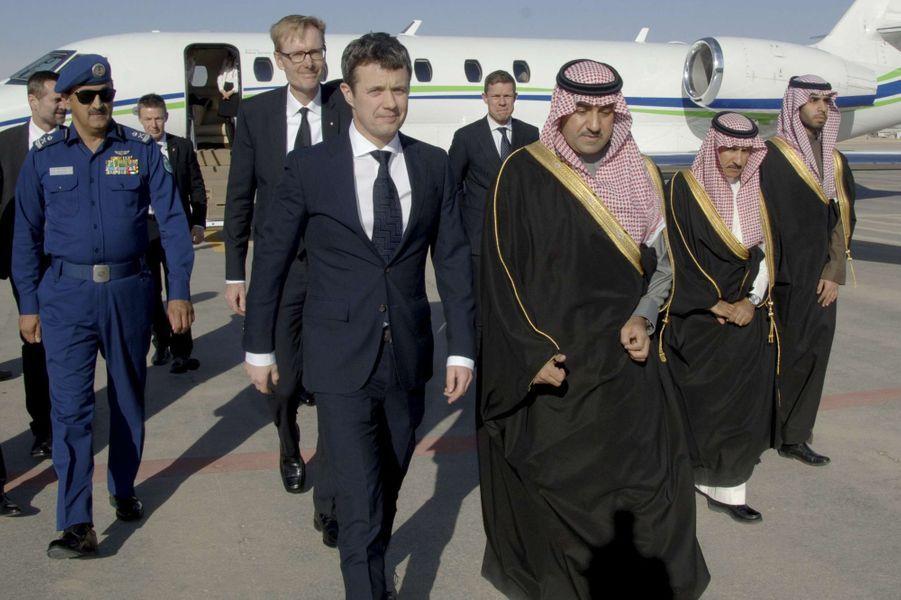 Le prince Frederik de Danemark à Riyad, le 24 janvier 2014