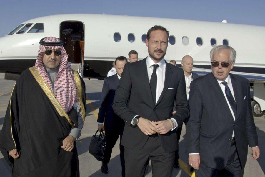 Le prince Haakon de Norvège à Riyad, le 24 janvier 2014