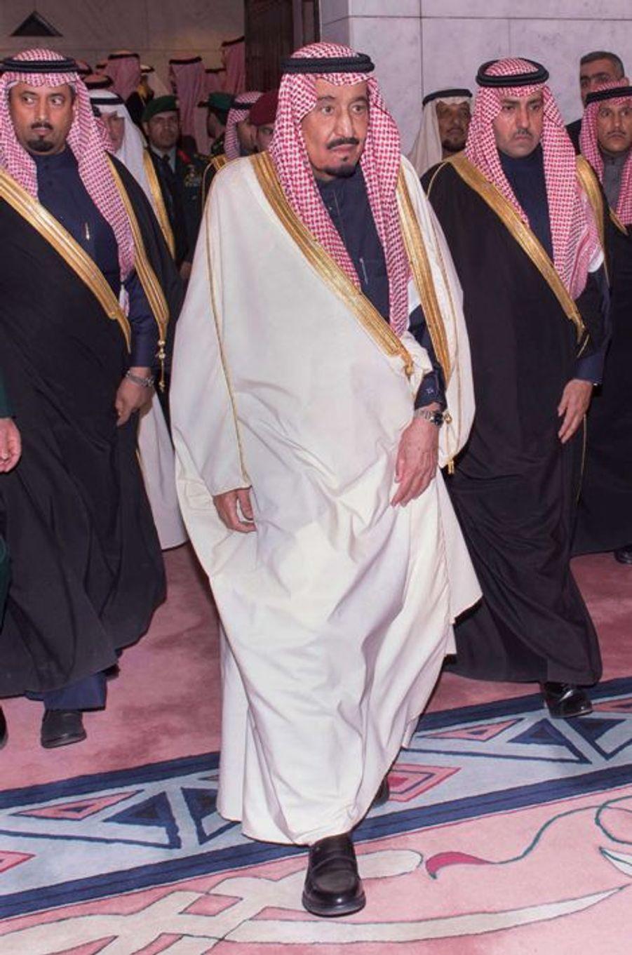 Le roi Salman d'Arabie Saoudite à Riyad, le 24 janvier 2014
