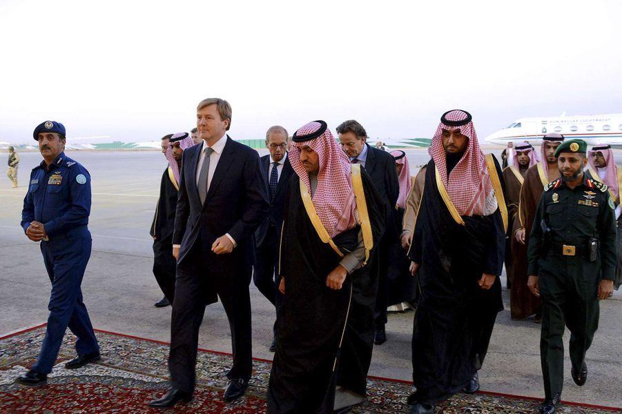 Le roi Willem-Alexander des Pays-Bas à Riyad, le 24 janvier 2014