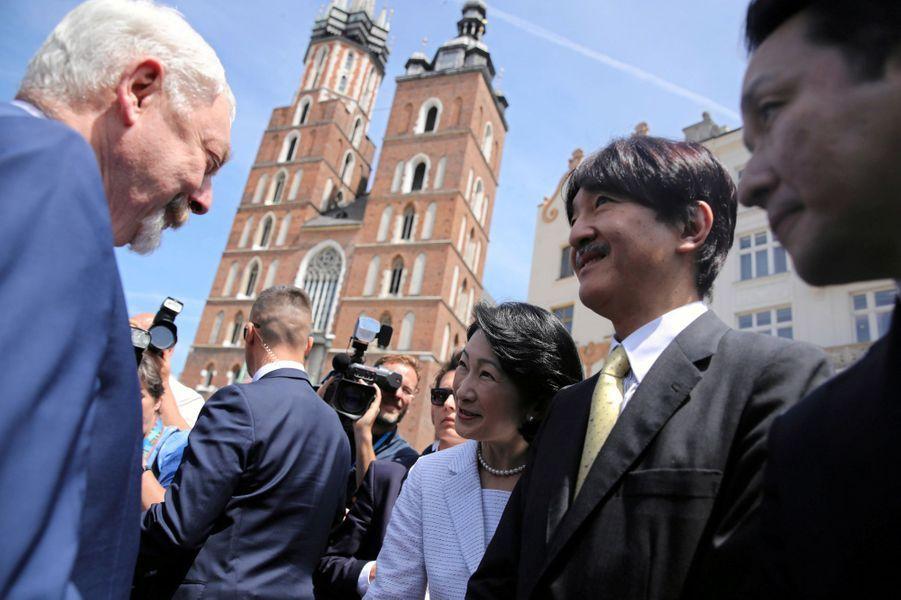 La princesse Kiko du Japon et le prince Fumihito d'Akishino à Cracovie, le 29 juin 2019