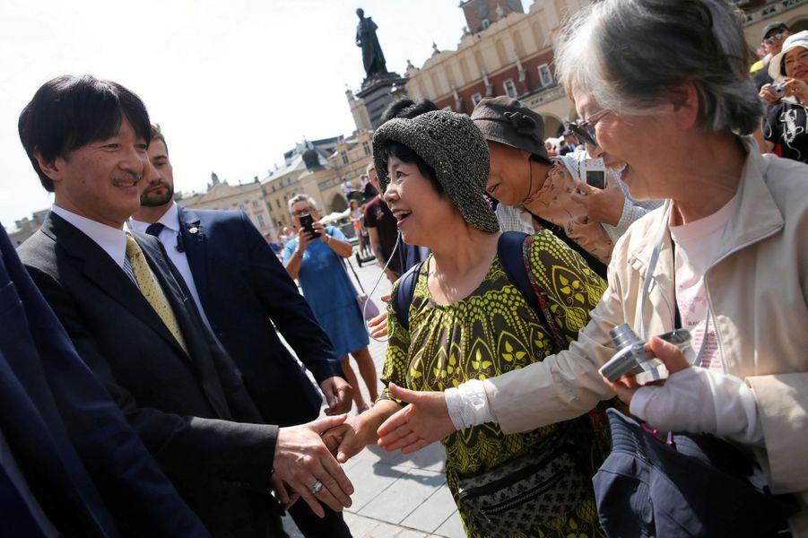 Le prince Fumihito d'Akishino à Cracovie, le 29 juin 2019