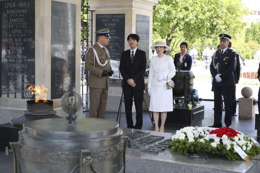 Le prince Fumihito d'Akishino et la princesse Kiko du Japon à Varsovie, le 28 juin 2019