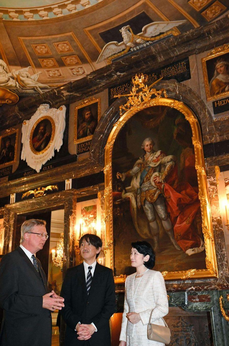 La princesse Kiko du Japon et le prince Fumihito d'Akishino à Varsovie, le 28 juin 2019