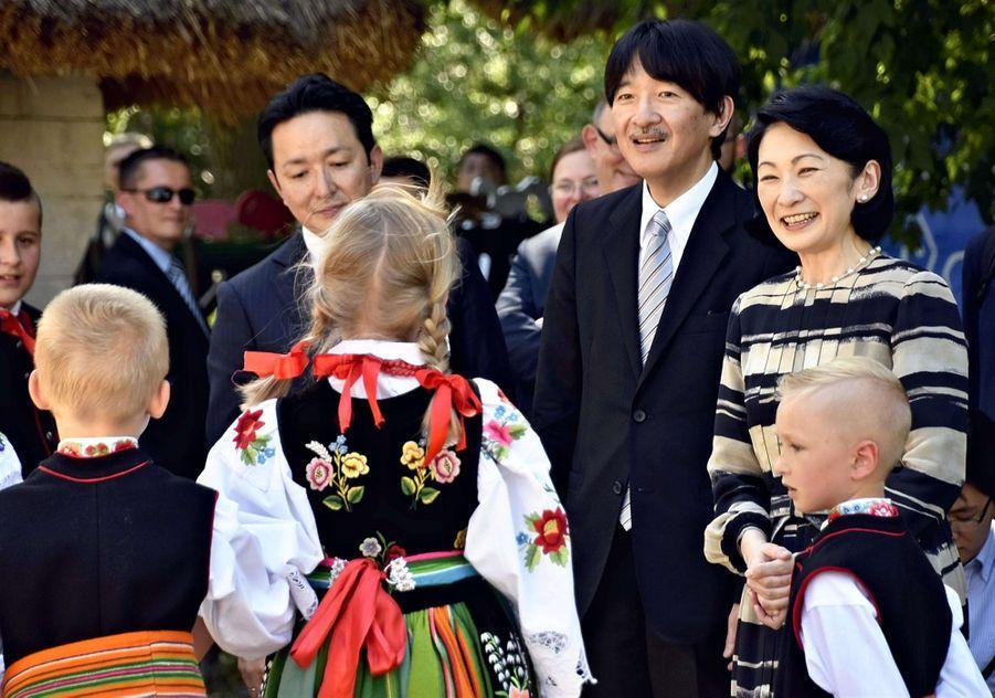 La princesse Kiko du Japon et le prince Fumihito d'Akishino à Lowicz, le 30 juin 2019
