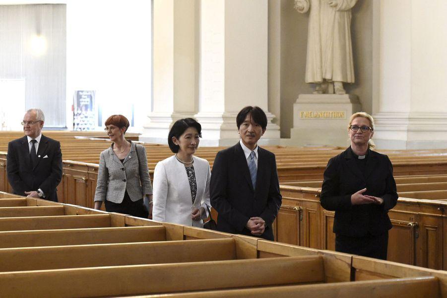 La princesse Kiko du Japon et le prince Fumihito d'Akishino à Helsinki en Finlande, le 2 juillet 2019