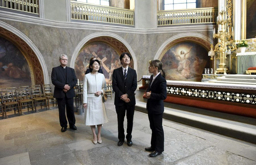 La princesse Kiko du Japon et le prince Fumihito d'Akishino à Turku, le 3 juillet 2019