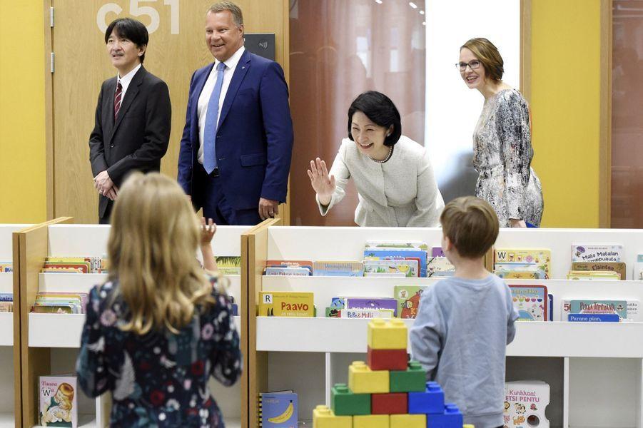 La princesse Kiko du Japon et le prince Fumihito d'Akishino à Espoo, le 4 juillet 2019