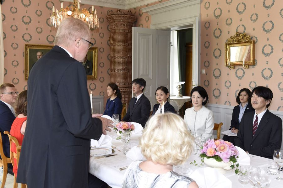 La princesse Kiko du Japon et le prince Fumihito d'Akishino à Raasepori, le 4 juillet 2019