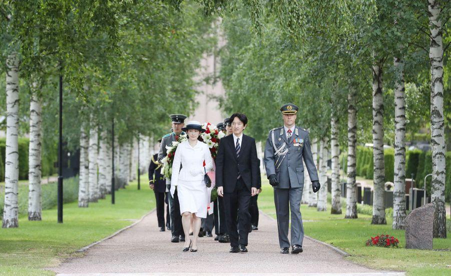 La princesse Kiko du Japon et le prince Fumihito d'Akishino à Helsinki, le 3 juillet 2019