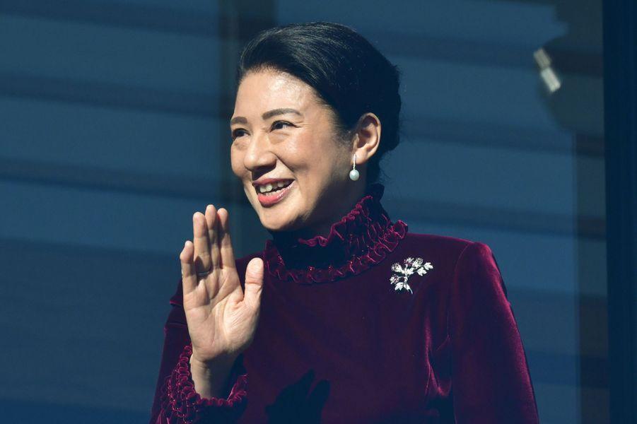 La princesse Masako du Japon à Tokyo, le 2 janvier 2019