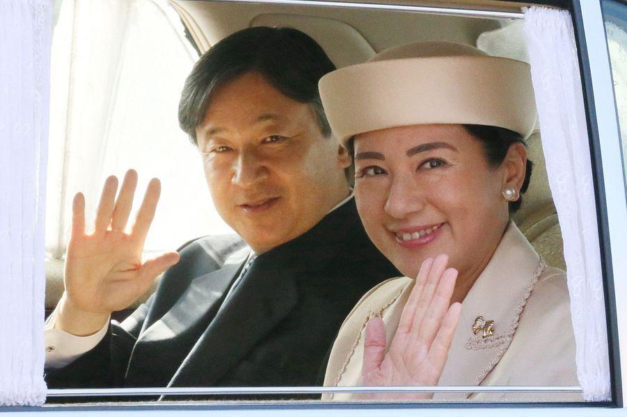 La princesse Masako du Japon avec le prince Naruhito, à Tokyo le 30 décembre 2018