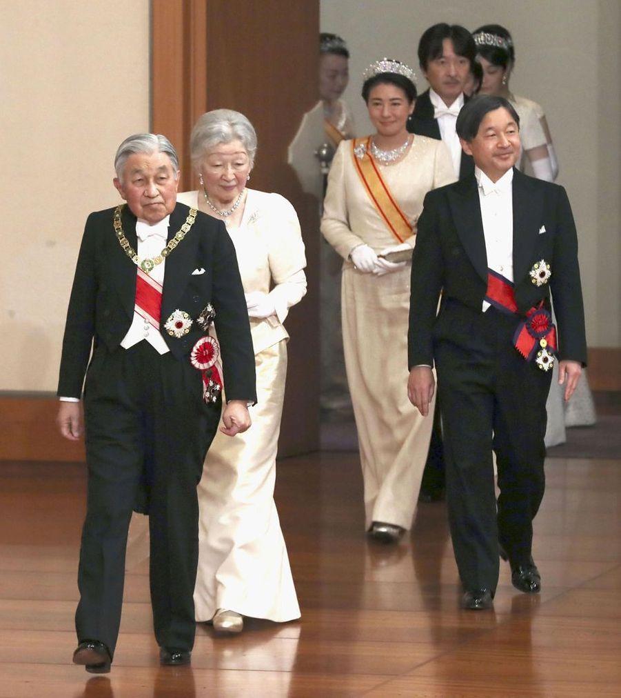 La princesse Masako du Japon avec la famille impériale à Tokyo, le 1er janvier 2019