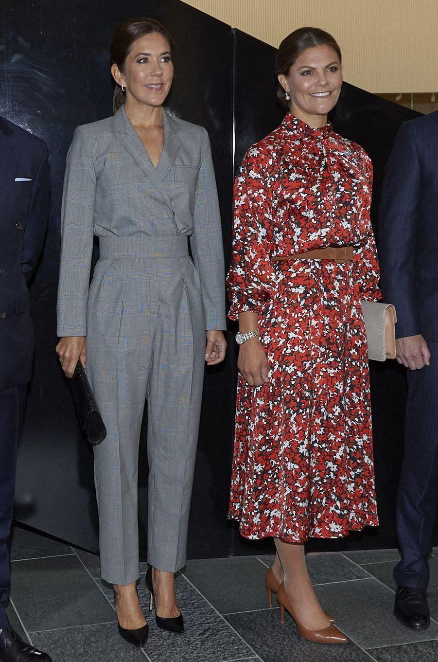 Les princesses Mary de Danemark et Victoria de Suède à Copenhague, le 17 septembre 2019