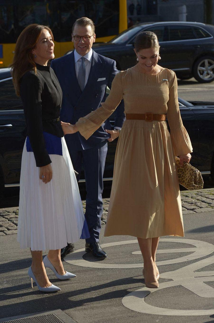 Les princesses Mary de Danemark et Victoria de Suède à Copenhague, le 18 septembre 2019