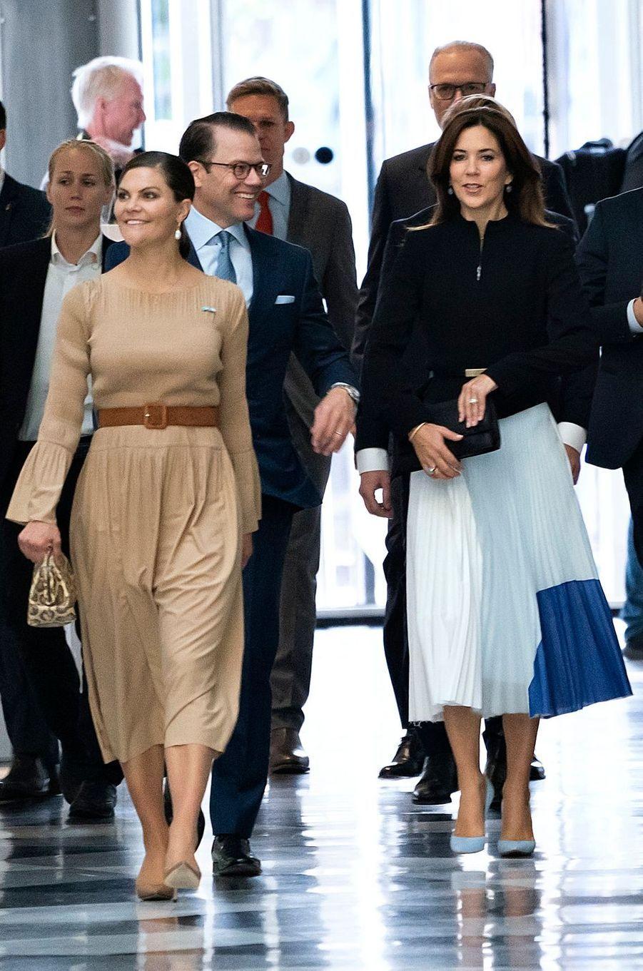 Les princesses Victoria de Suède et Mary de Danemark à Copenhague, le 18 septembre 2019