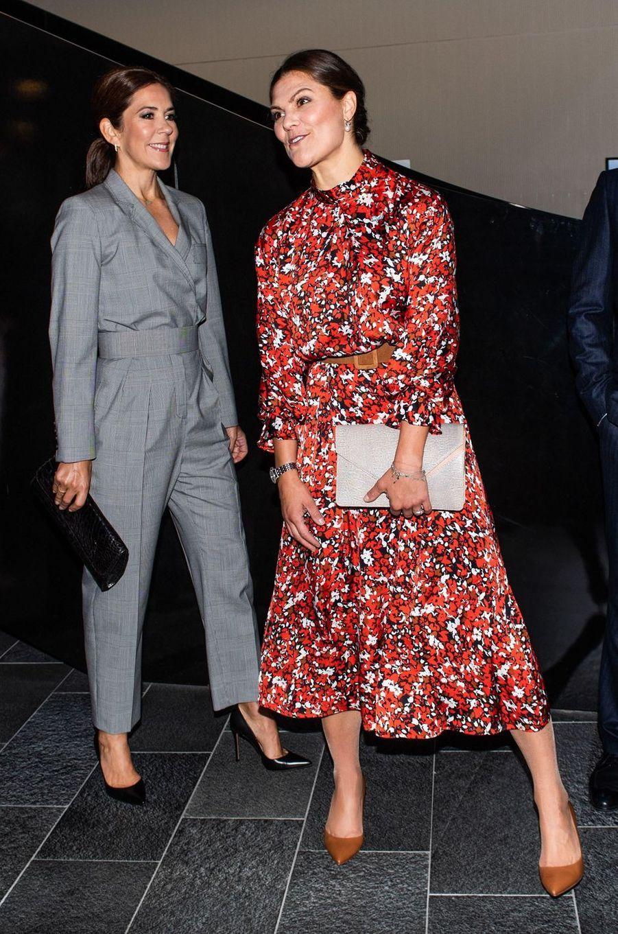 La princesses Mary de Danemark et la princesse Victoria de Suède à Copenhague, le 17 septembre 2019