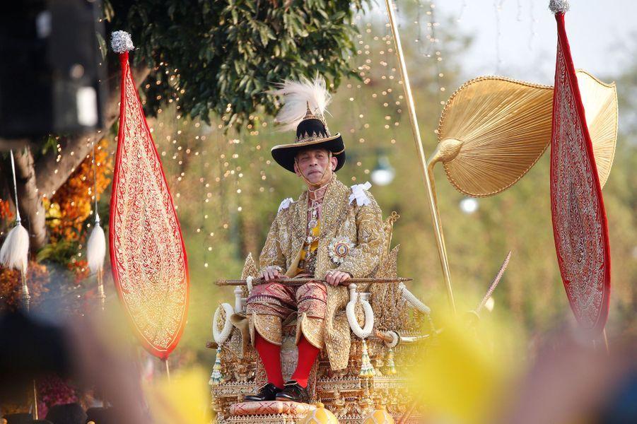 Le roi de Thaïlande Maha Vajiralongkorn à Bangkok le 5 mai 2019