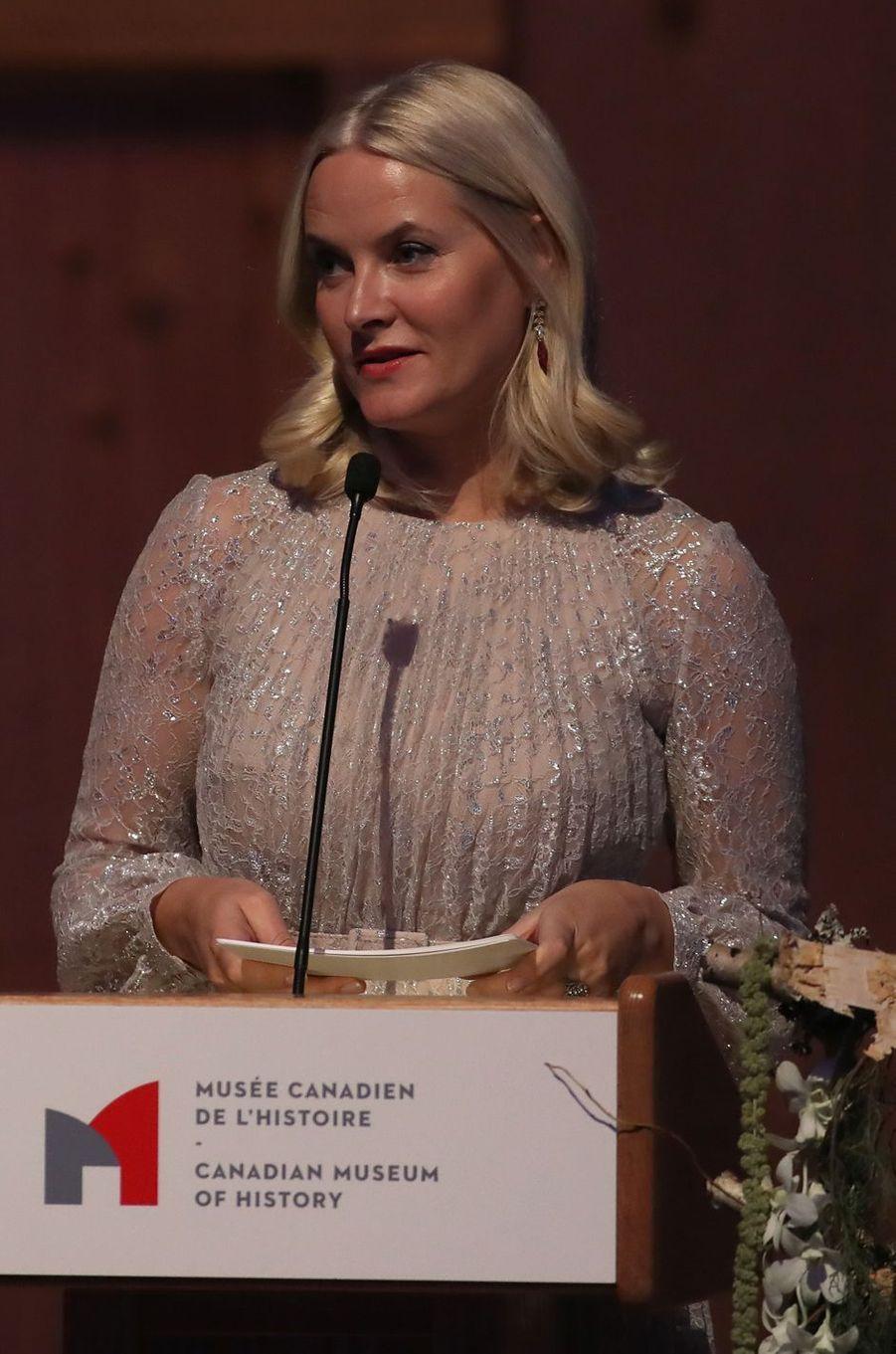 La princesse Mette-Marit de Norvège à Gatineau au Canada, le 7 novembre 2016