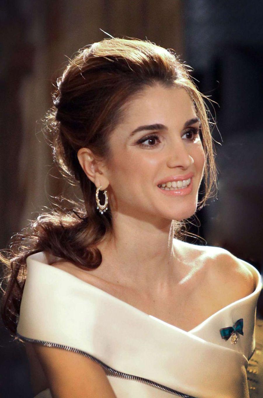 La reine Rania de Jordanie à Rome, le 20 octobre 2009