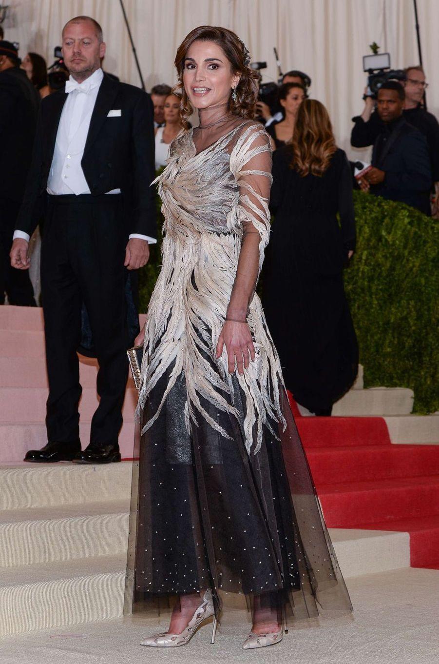 La reine Rania de Jordanie à New York, le 2 mai 2016