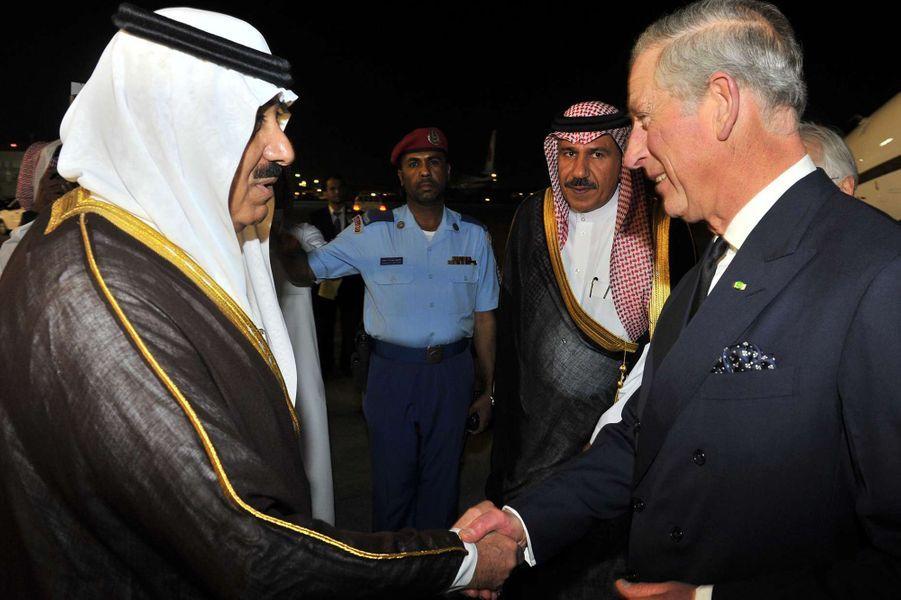 Le roi Abdallah avec le prince Charles à Riad, le 26 octobre 2007