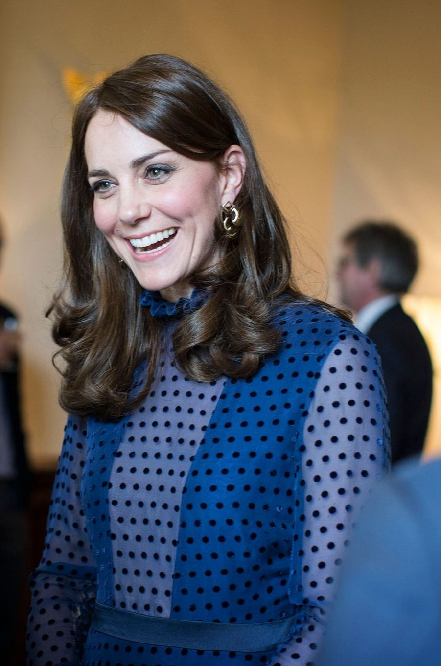 Kate Middleton, duchesse de Cambridge, à Londres, le 6 avril 2016