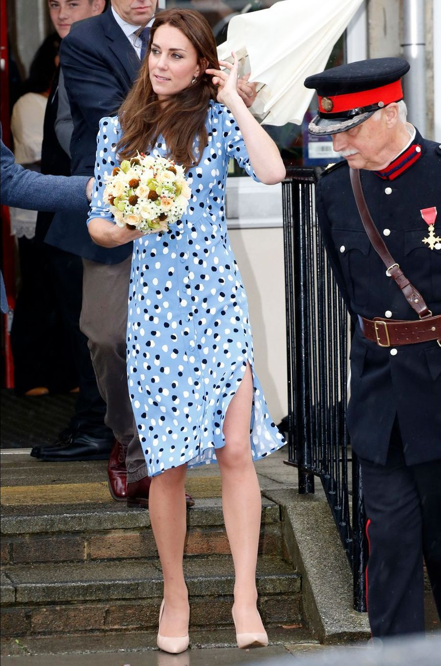 Kate Middleton, duchesse de Cambridge, à Harlow, le 16 septembre 2016