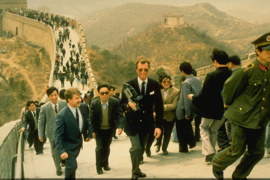 Le prince Henri de Luxembourg sur la Grande Muraille de Chine, le 1er avril 1988