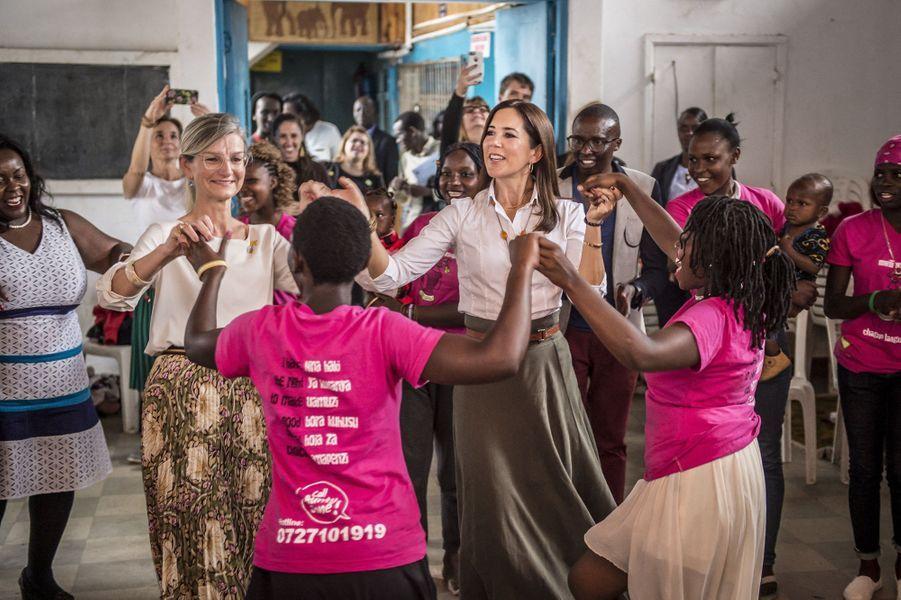 La princesse Mary de Danemark à Nairobi au Kenya, le 28 novembre 2018