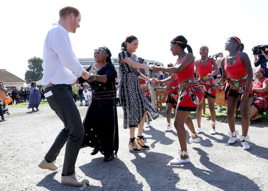 Le prince Harry et Meghan Markle à Cape Town en Afrique du Sud, le 23 septembre 2019