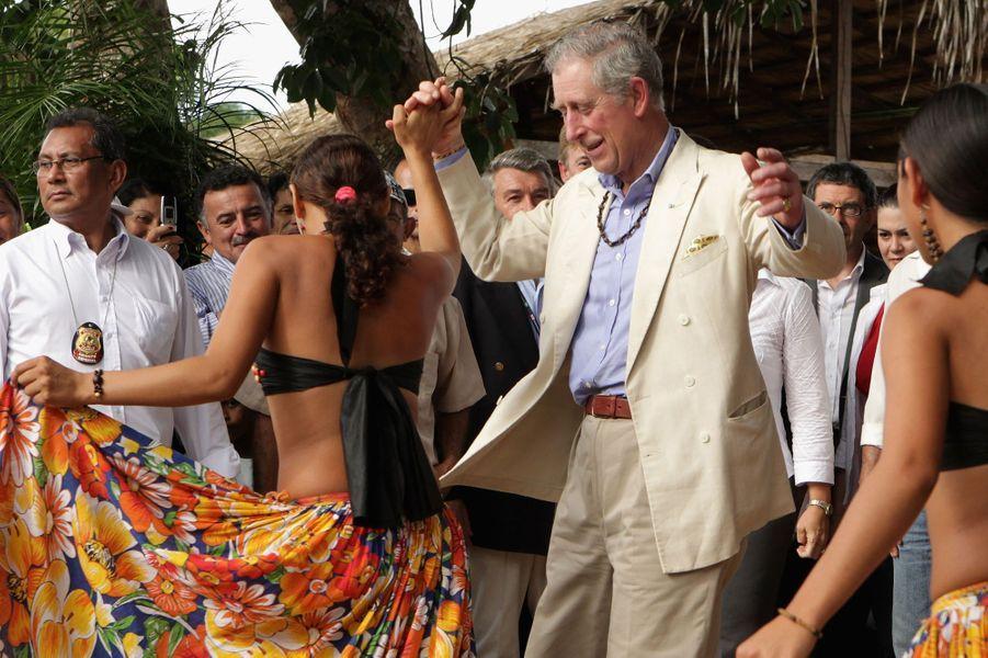 Le prince Charles à Manaus au Brésil, le 14 mars 2009