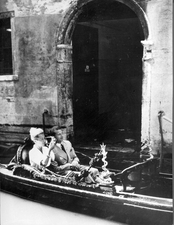 La princesse Paola et le prince Albert de Belgique à Venise, le 16 août 1967
