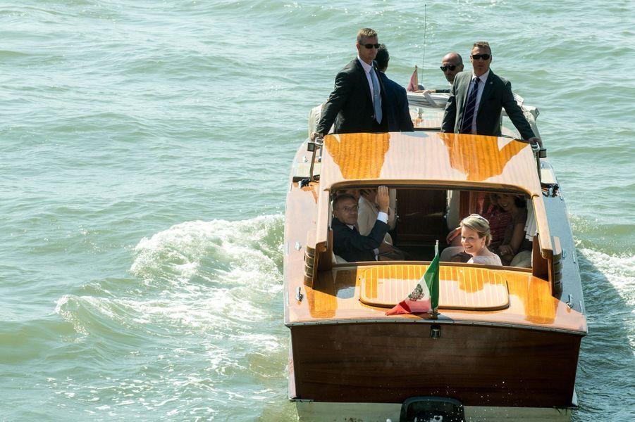 La reine des Belges Mathilde à Venise, le 8 septembre 2017