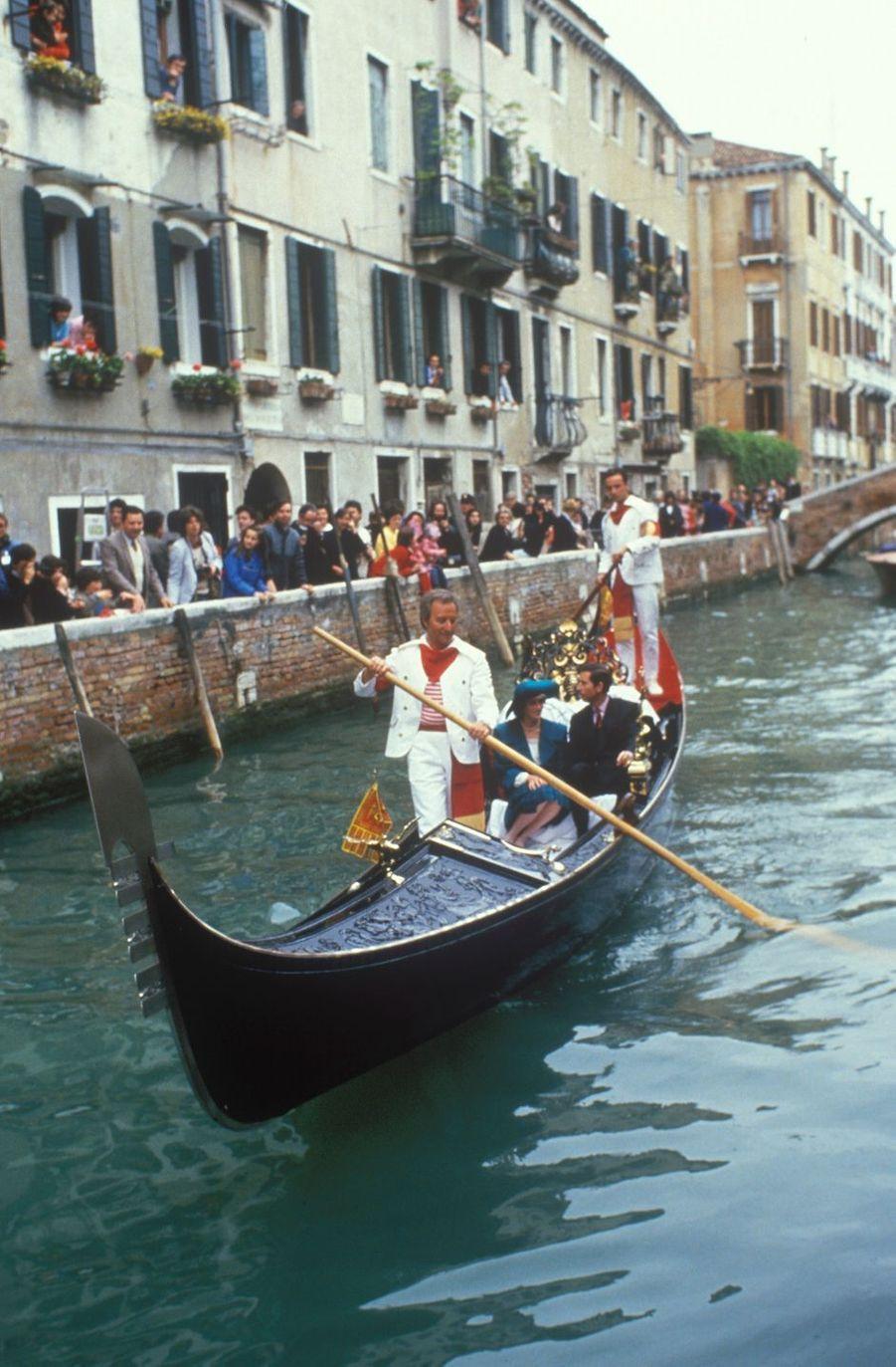 La princesse Diana et le prince Charles à Venise, le 5 mai 1985