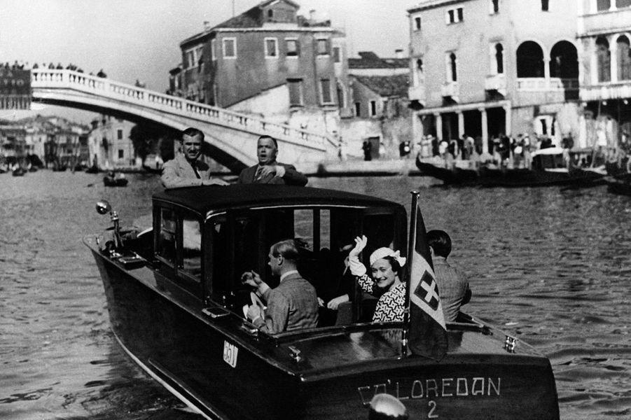 L'ex-roi Edward VIII et Wallis Simpson à Venise, le 5 juin 1937