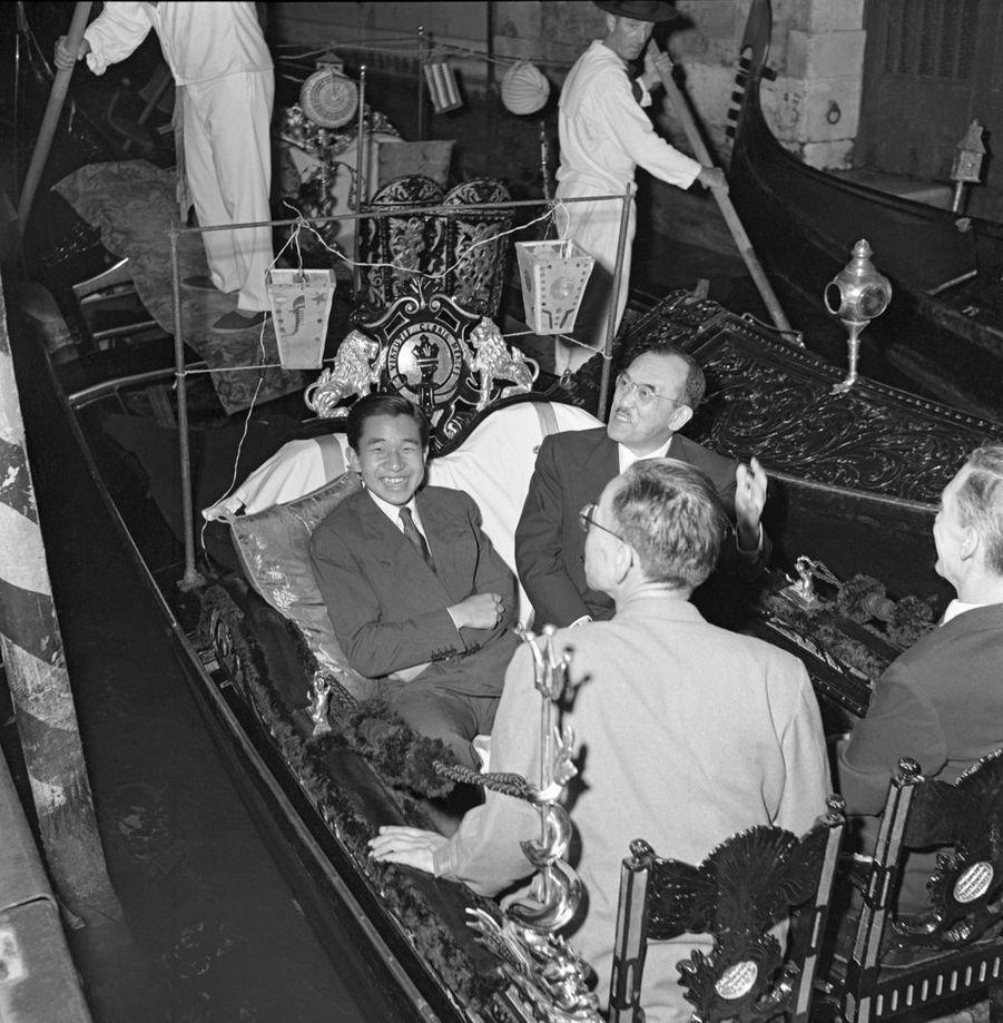Le prince héritier Akihito du Japon à Venise, en 1953