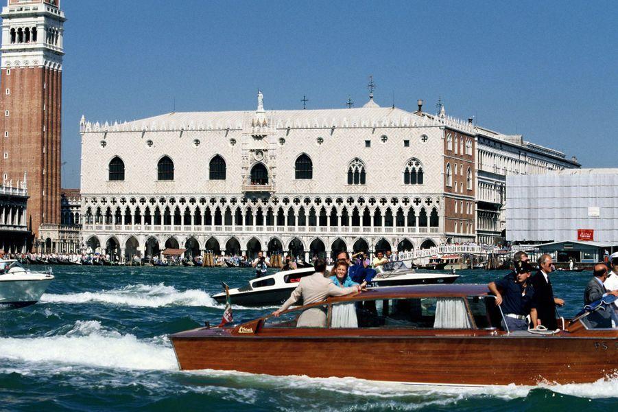 Sarah Ferguson et le prince Andrew à Venise, en août 1989