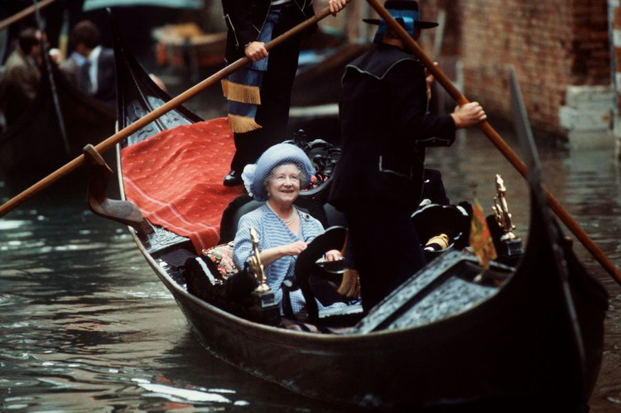 L'ex-reine consort Elizabeth à Venise, le 27 octobre 1984