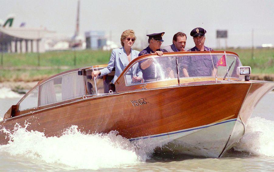 La princesse Diana à Venise, le 8 juin 1995