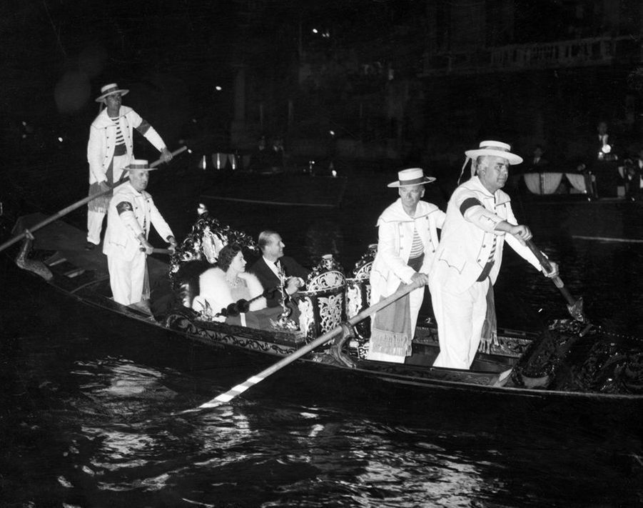La reine Elizabeth II et le prince Philip à Venise, le 8 mai 1961