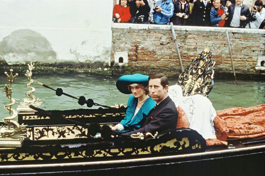 La princesse Diana et le prince Charles en visite à Venise, le 5 mai 1985